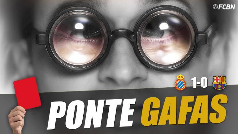 El árbitro perdonó la expulsión a Aarón en el Espanyol-Barça