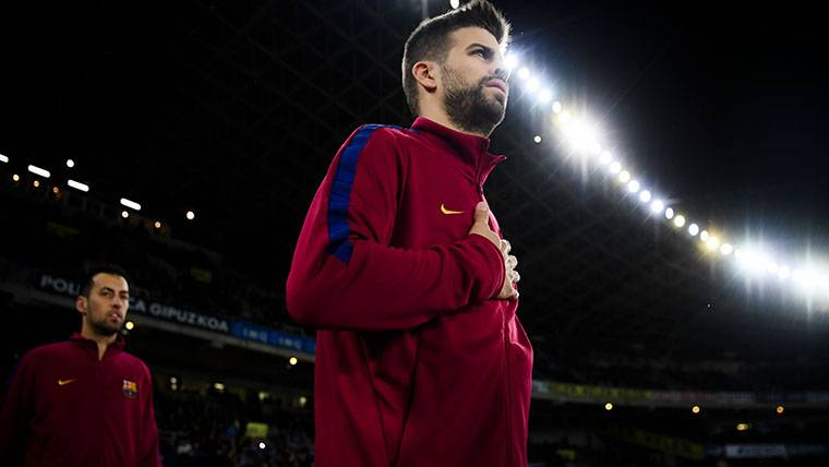 Piqué contesta a la actitud de la afición del Espanyol