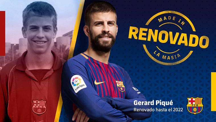 OFICIAL: Gerard Piqué renueva con el FC Barcelona hasta 2022