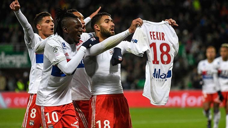 Nabil Fekir calienta el Lyon-PSG con un desafío a Neymar