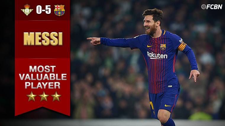 MVP: Messi dio una clase que acabó en 'manita' del Barça