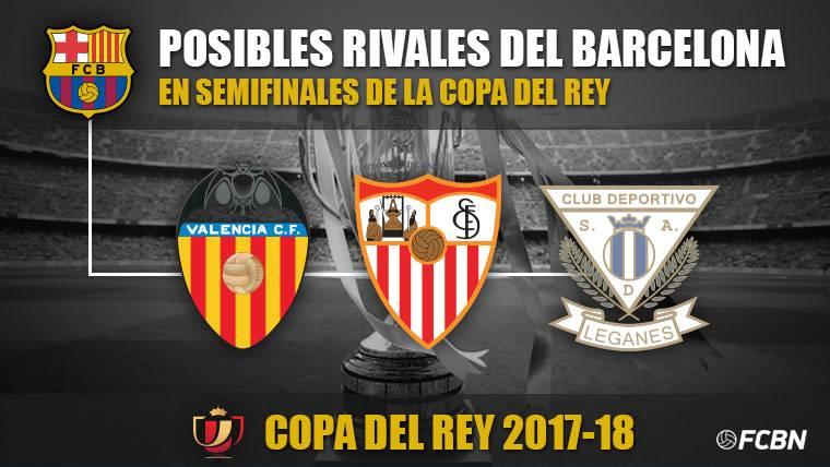 Estos son los posibles rivales del Barça en semifinales de Copa