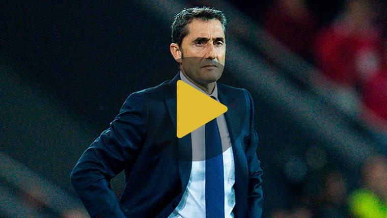 """Valverde: """"Salvo cortarle la mano a Umtiti poco se podía hacer"""""""