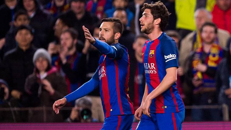 Sergi Roberto y Jordi Alba, 'feeling' con Luis Suárez y Messi