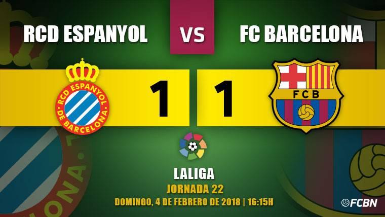 Piqué habla en el campo y salva al Barça de un bronco Espanyol