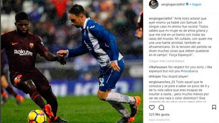Mensaje de Sergio García para disculparse con Samuel Umtiti