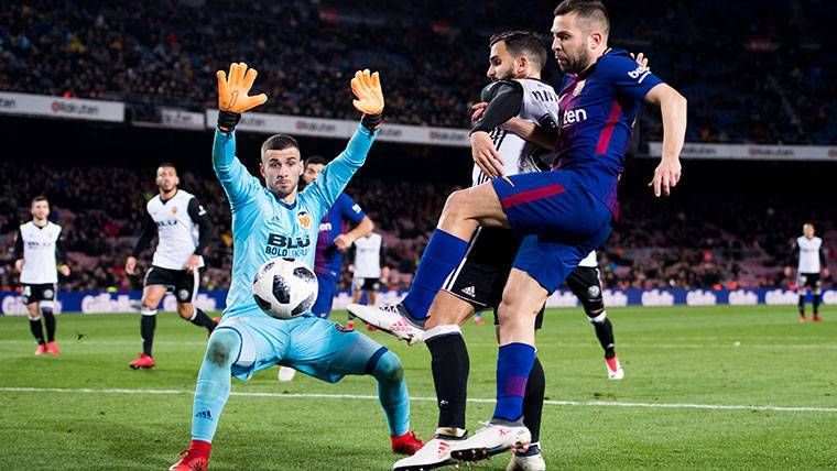 The Warning Of The Goalkeeper Of Valencia To The Barca Of Valverde