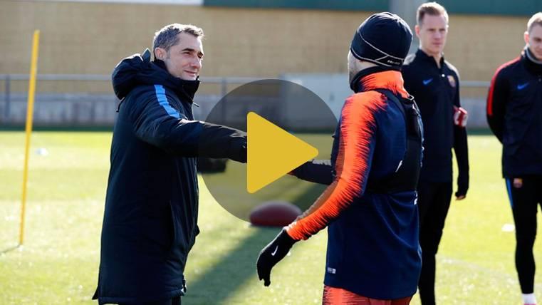 Valverde cumple años en su camino de éxitos en el Barça