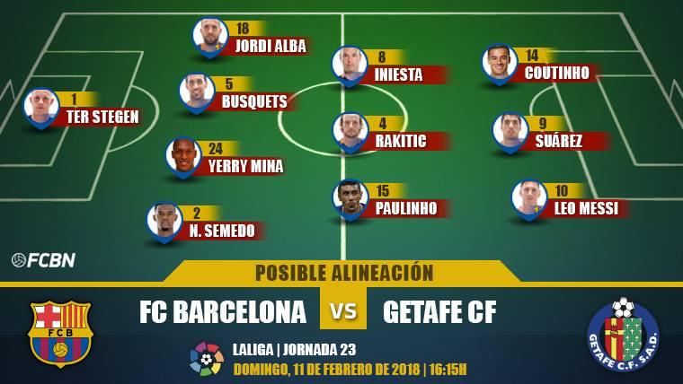Las posibles alineaciones del FC Barcelona-Getafe (LaLiga J23)