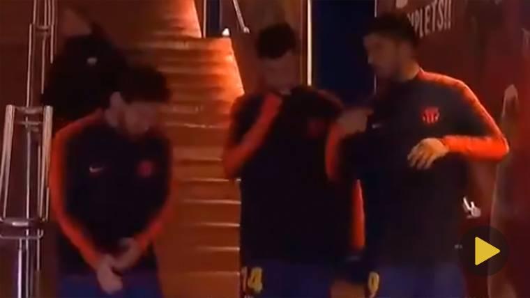 Coutinho, Leo Messi y Luis Suárez ya son inseparables