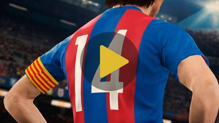 Johan Cruyff, la leyenda del Barça recreada por PES 2018