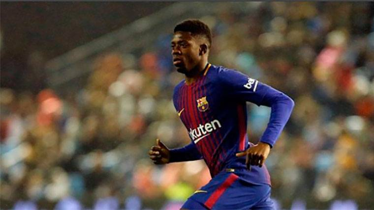 Ousmane Dembélé, durante un partido con el Barcelona