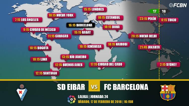 Cuándo y dónde ver el partido Eibar vs FC Barcelona