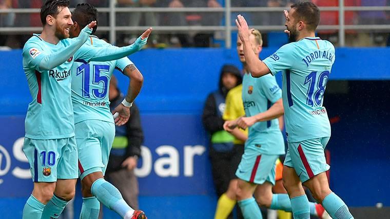 Jordi Alba sentenció al Eibar y dio tranquilidad al Barcelona
