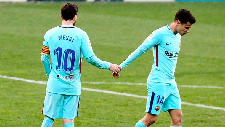 La jugada mágica de Messi y Coutinho que casi acabó en gol