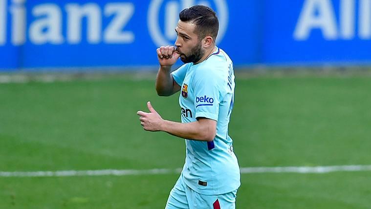Jordi Alba aspira a cumplir su mejor temporada en el Barça