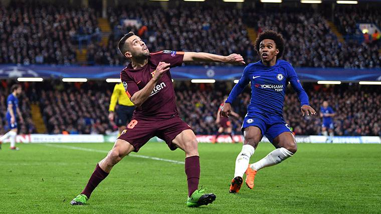 Jordi Alba da la clave del empate del Barça ante el Chelsea