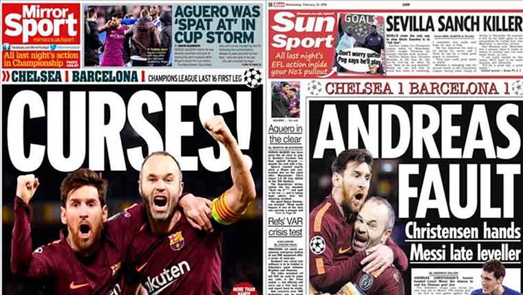 Iniesta y Messi, protagonistas del Chelsea-Barça en Inglaterra