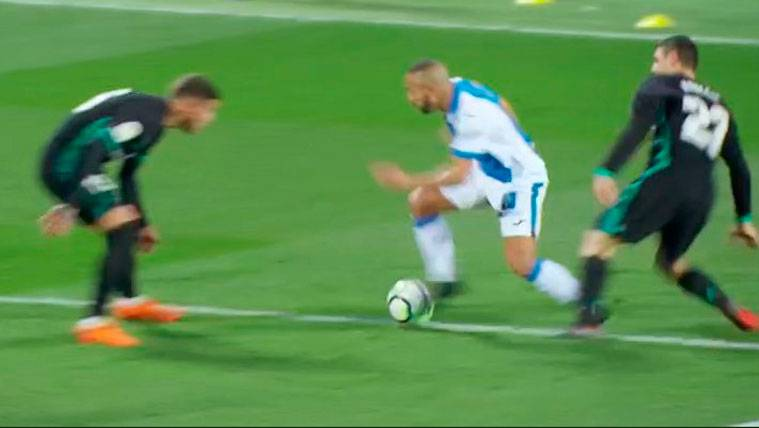 El Leganés protestó un penalti claro de Kovacic a El Zhar