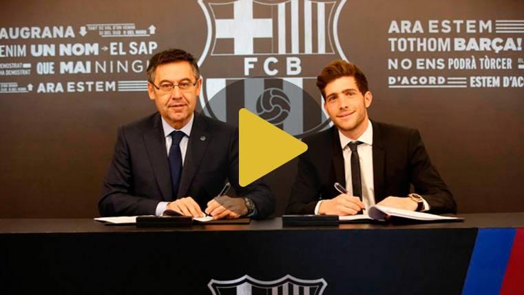 OFICIAL: Sergi Roberto renueva con el FC Barcelona hasta 2022