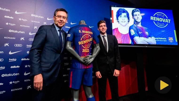 Sergi Roberto se llevó una sorpresa tras su renovación