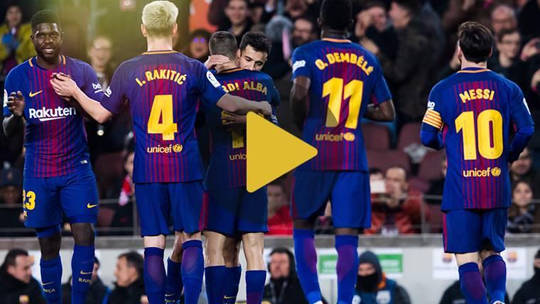 Vídeo resumen: FC Barcelona 6 Girona 1 (LaLiga J25)