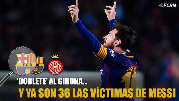 Messi se quedó sin 'hat-trick', pero amplió su lista de víctimas
