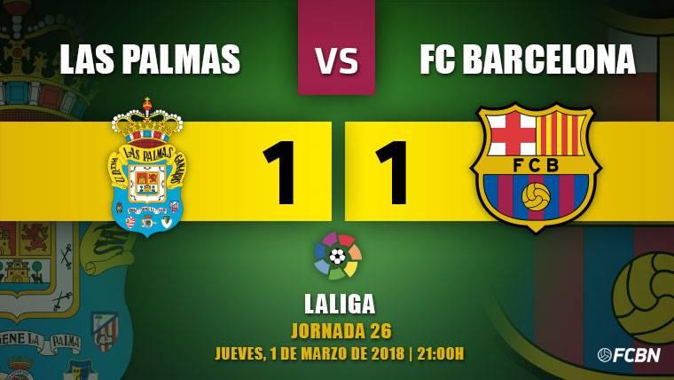 Manotazo arbitral al Barça en Las Palmas que abre la Liga (1-1)