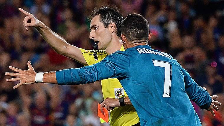 El árbitro que no pitó más al Madrid desde que expulsó a CR7