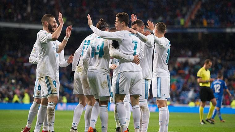 El Real Madrid supera al Getafe y ya piensa en la Champions (3-1)