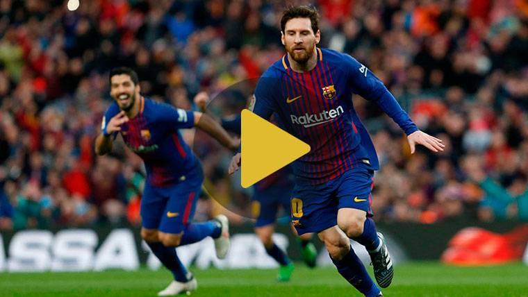 Así vibró la grada del Camp Nou con el golazo de Leo Messi