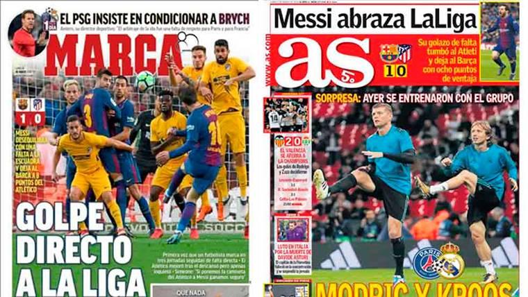 En Madrid ya ven al FC Barcelona como campeón de Liga