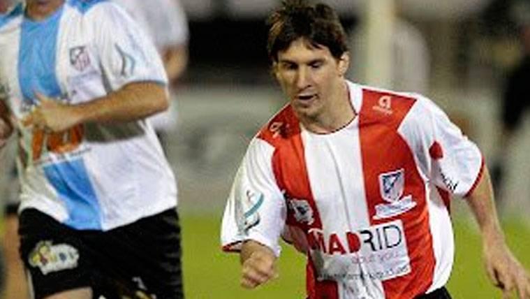 El día en que Messi sí vistió la camiseta del Atlético de Madrid