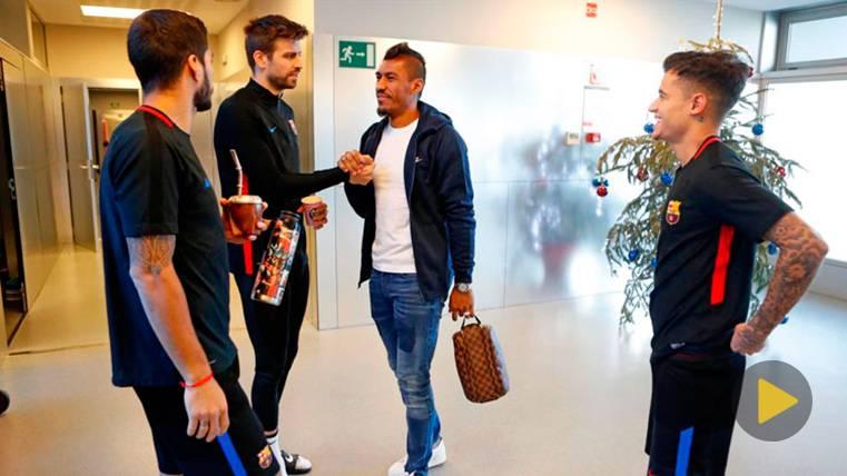 Coutinho, Paulinho y Suárez no dejan el balón ni en su día libre