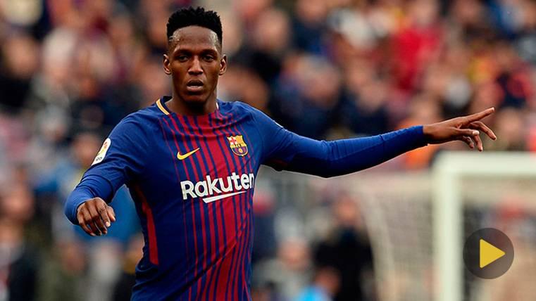 Yerry Mina marca su primer gol con el FC Barcelona, ¡y lo baila!