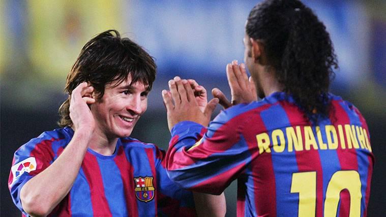 Ronaldinho explica su primera experiencia con Leo Messi