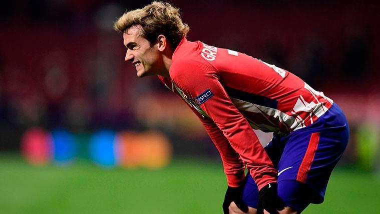 Antoine Griezmann en un partido del Atlético de Madrid