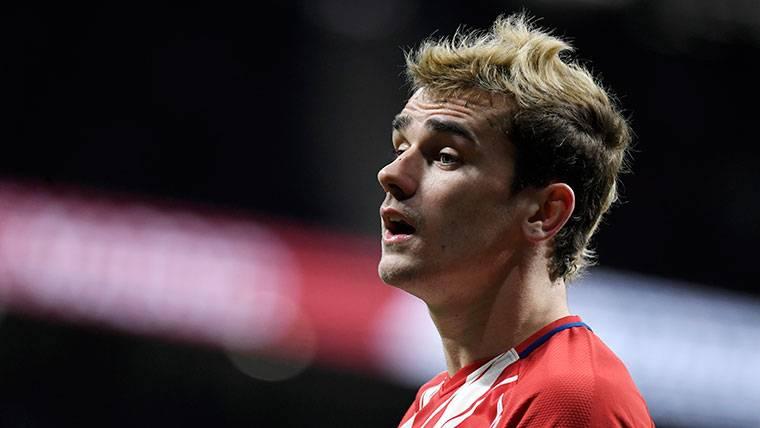 Griezmann, durante un partido con el Atlético
