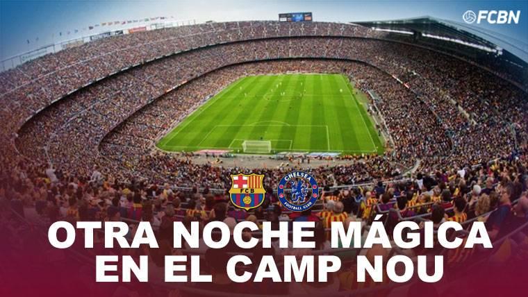 El Camp Nou, a por otra gloriosa noche