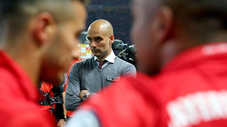 Pep Guardiola, en una imagen de archivo con el Bayern Múnich