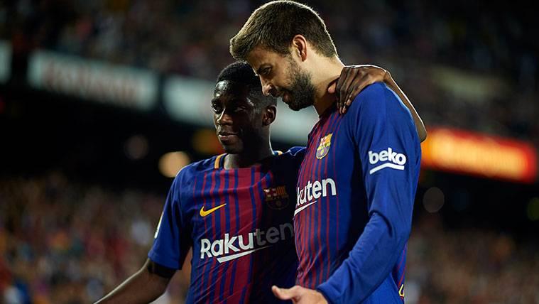 Gerard Piqué, el inesperado apoyo para Dembélé en el vestuario del Barça