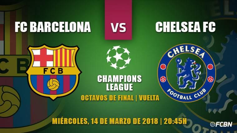 Barça-Chelsea: A sellar el billete hacia cuartos de Champions