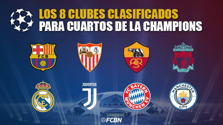 Los 8 equipos clasificados para cuartos de final de la Champions ...