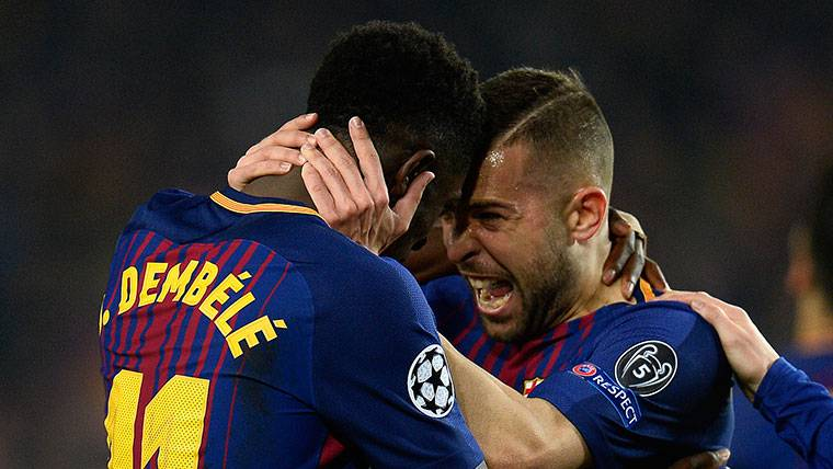 Jordi Alba da la clave por la que Dembélé triunfará en el Barça