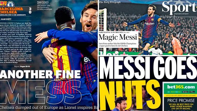 La prensa mundial, a los pies de Messi tras el Barça-Chelsea