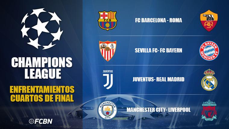 Así han quedado los cruces de cuartos de final de la Champions