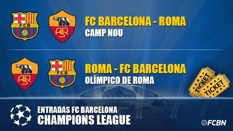 Entradas FC Barcelona vs AS Roma - Champions League