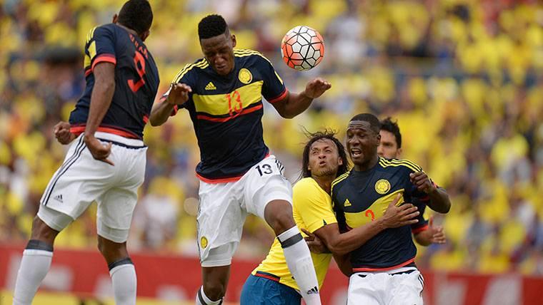 Yerry Mina, suplente en el Barça pero 'intocable' para Colombia