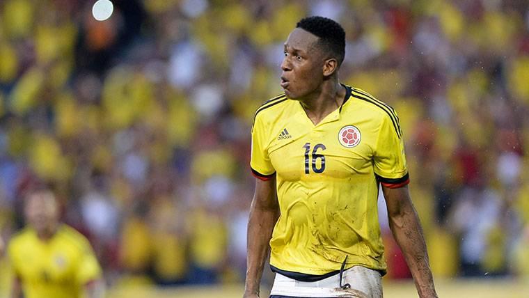 La reacción de Yerry Mina tras su doble alegría con el Barça y Colombia