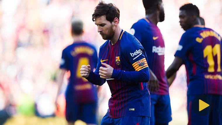 VIRAL: Baile de Messi para celebrar el gol contra el Athletic